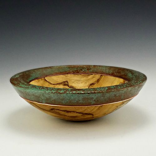 Decorated Silver Maple Bowl